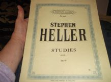 ANTIQUE SHEET MUSIC BOOKLET 1897 AUGENERS 6187 STEPHEN HELLER STUDIES BK 1 OP 47